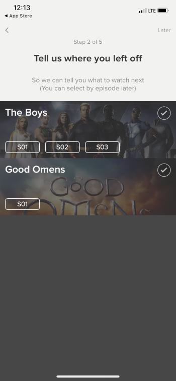 choose episodes you've left off