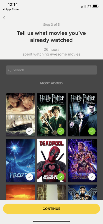 select movies you've watched