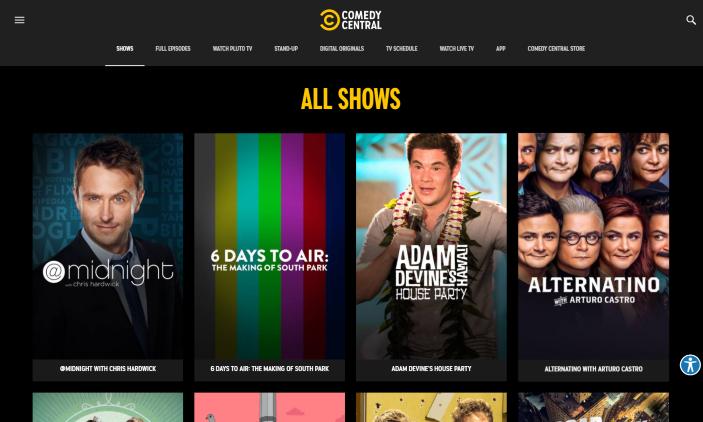 comedy central website