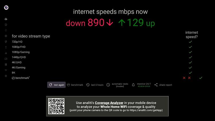 buzztv Download Speed Test