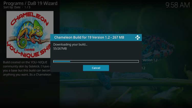 wait for build to install