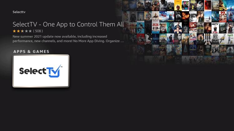 choose the selecttv app