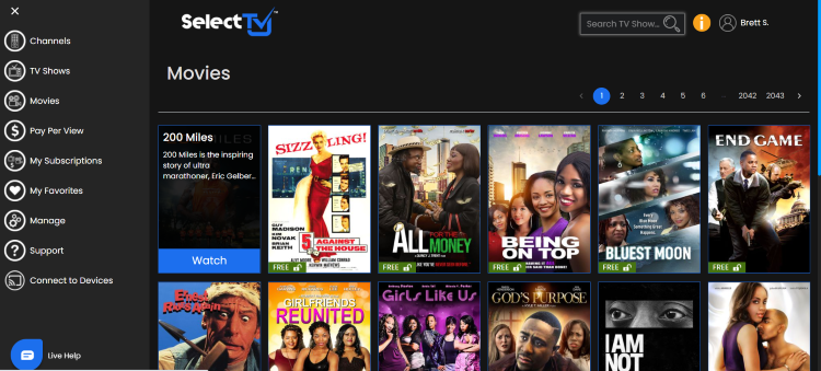 selecttv on browser