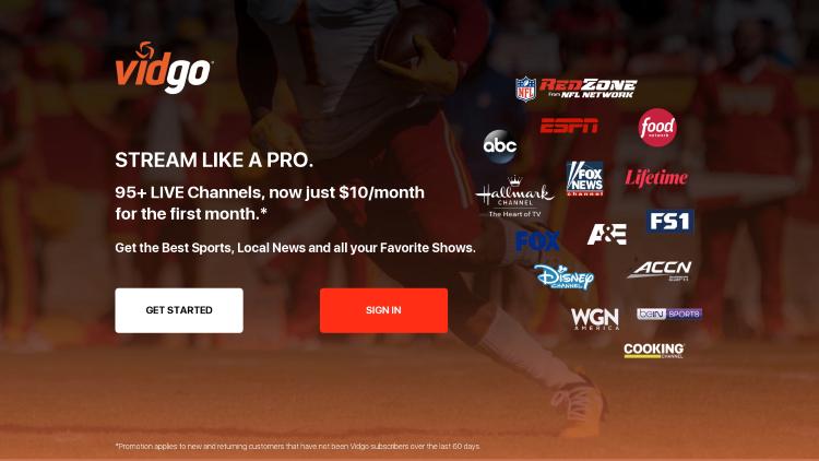 vidgo college football site