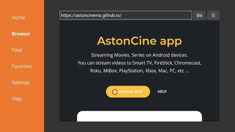 choose download apk