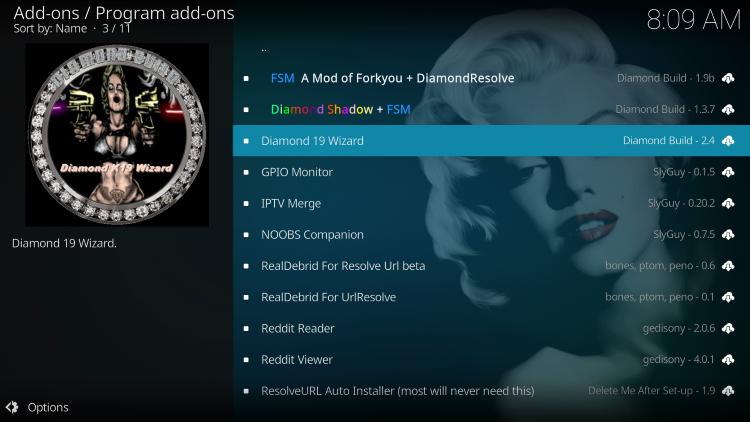 Choose Diamond 19 Wizard