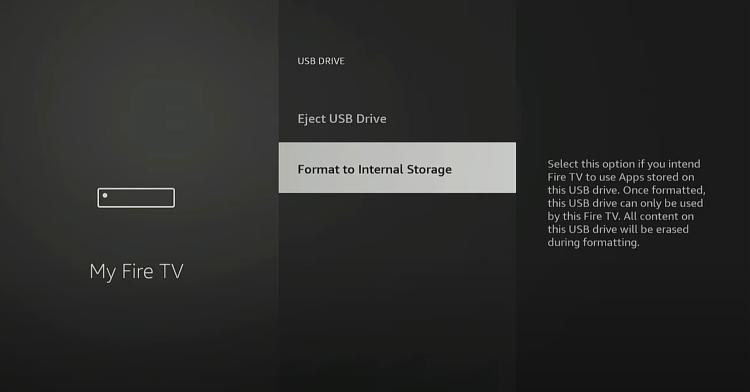 Click Format to Internal Storage.