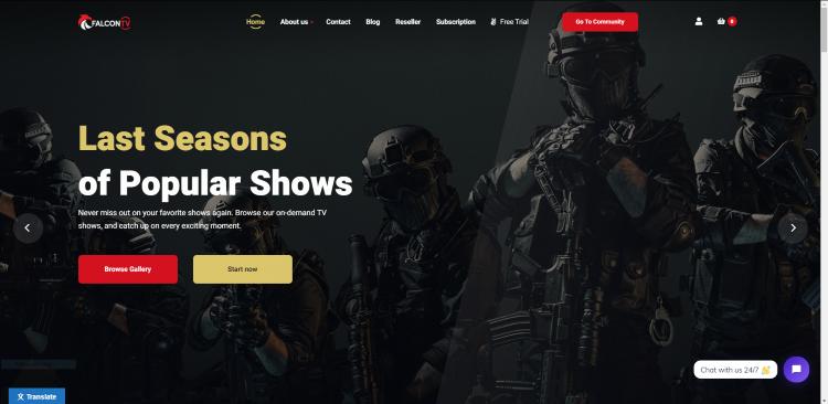 falcon iptv website