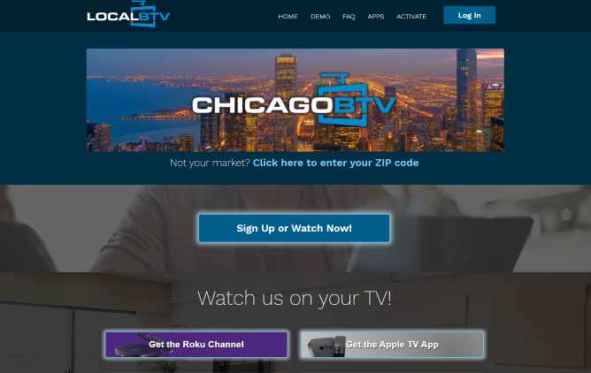 For this example, we used a Chicago zip code. Click Sign Up or Watch Now to continue.
