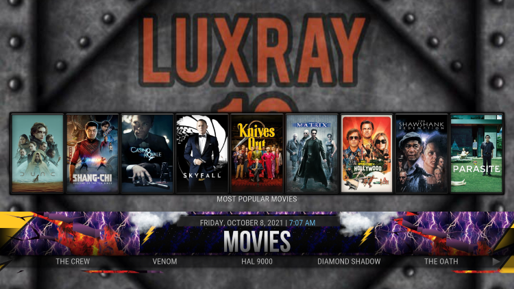 Installation of the Luxray Kodi Build is complete!