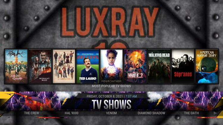 luxray kodi build details