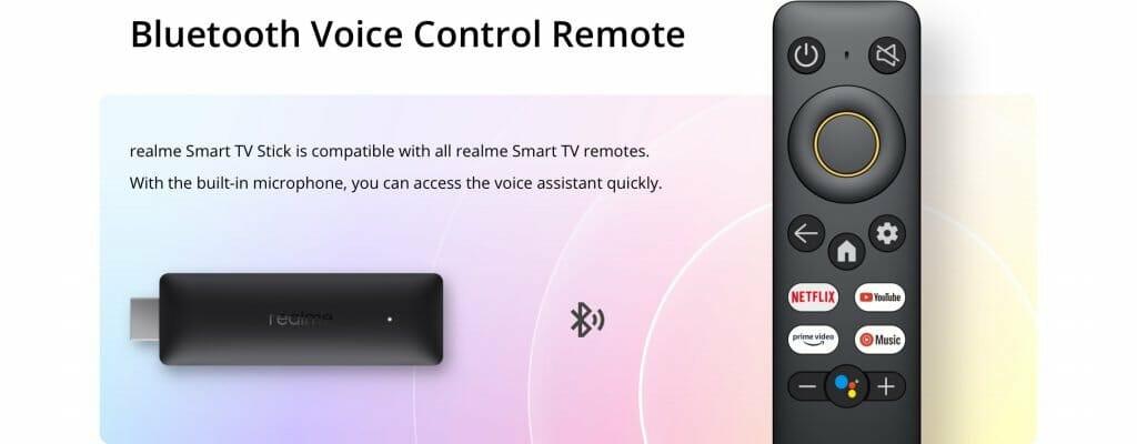 realme google tv stick remote